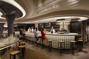 Bar le Ferrari à bord du Costa Smeralda